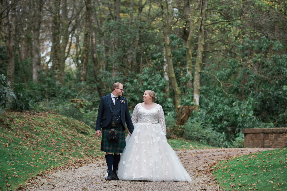 wedding at fasque castle,