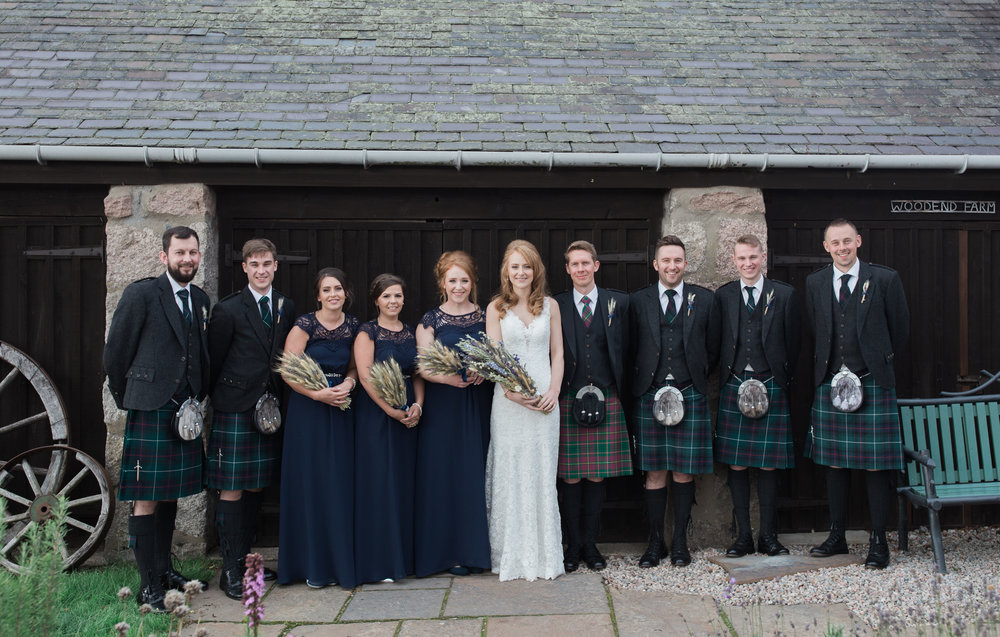 woodend barn Banchory, Banchory wedding, wedding in Banchory, Banchory lodge, vivienne elizabeth photography, wedding photographers in Aberdeenshire, wedding photographers in aberdeen, wedding party, bridesmaids