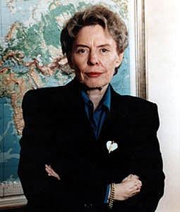 Ambassador Jean Kirkpatrick, t.k.'s mother.