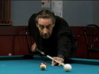 Jerry Orbach was a mother fucking sorcerer at playing pool. He gets to do his own tricks in the scene undercover in a pool hall.