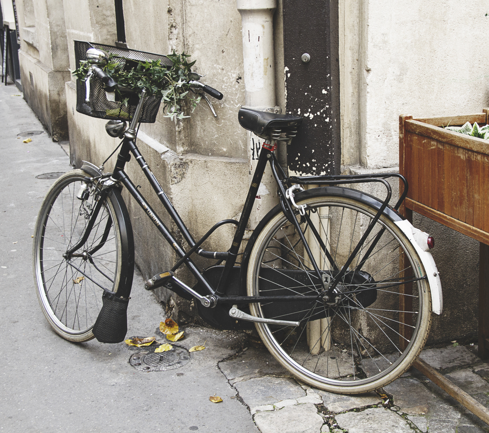 A Californian in Paris. A bike near Ledru Rollin.