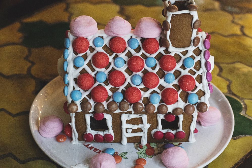 A gingerbread house in France. A Californian in Paris.