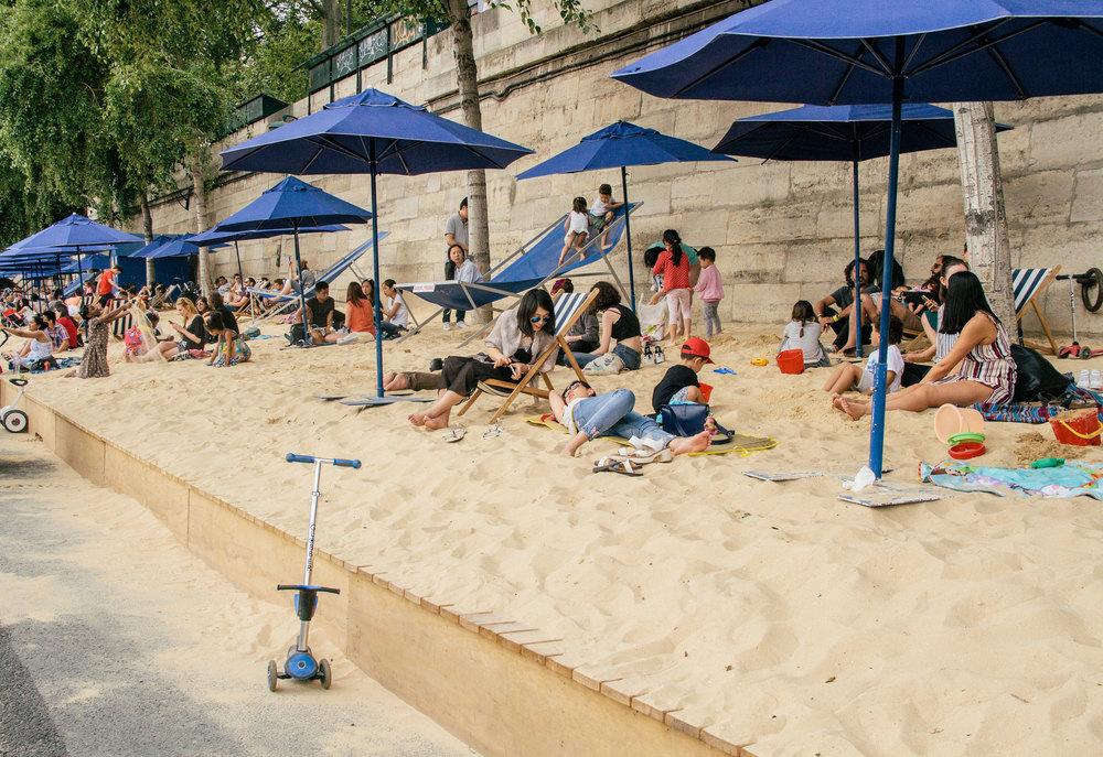 Paris Plages sand