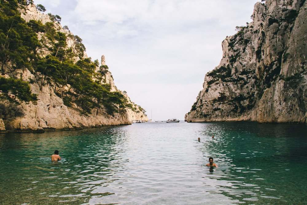 La Petite Californienne: The cove at the end of the Calanque d'en Vau