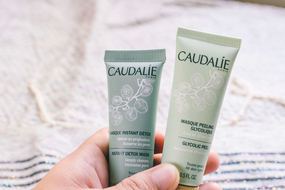 La Petite Californienne: Caudalie Instant Detox Mask and Glycolic Peel Mask