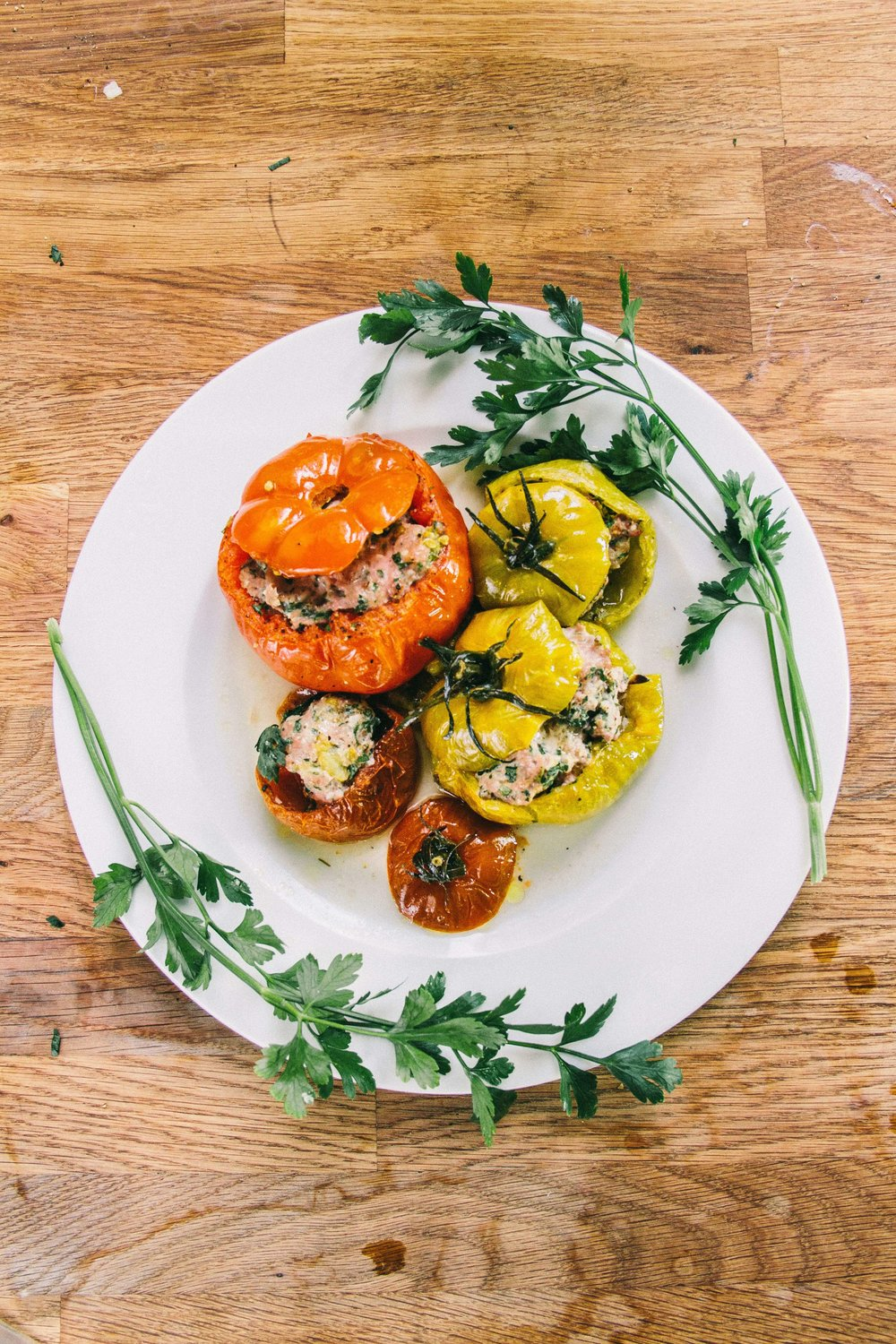 La Petite Californienne: Mini Heirloom Tomato Farcie (Stuffed French Tomatoes)