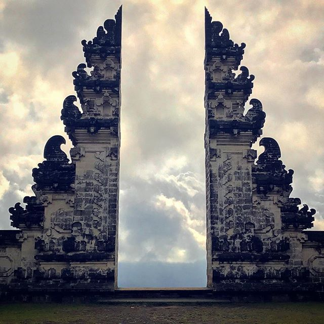The gateway to heaven... at the temple of Pura Lempuyang.