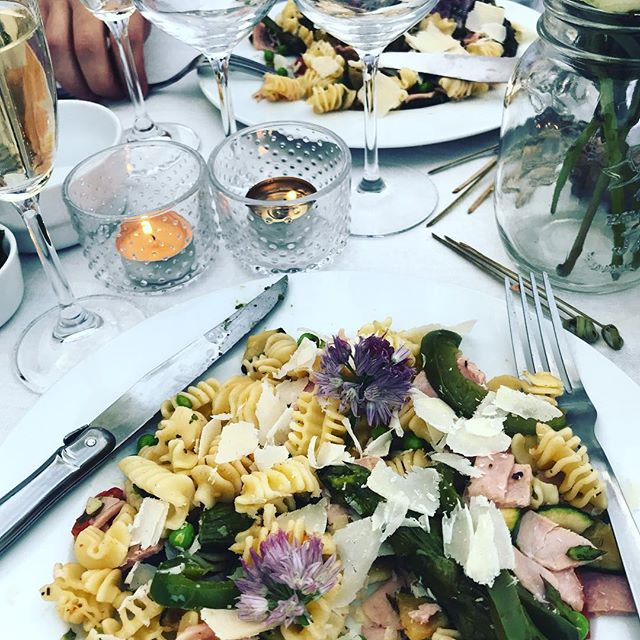 Summer pasta... the meal I made for us at Diner En Blanc! #dinerenblanc