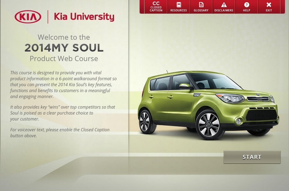 KIA SOUL Interactive eLearning Web Course View →