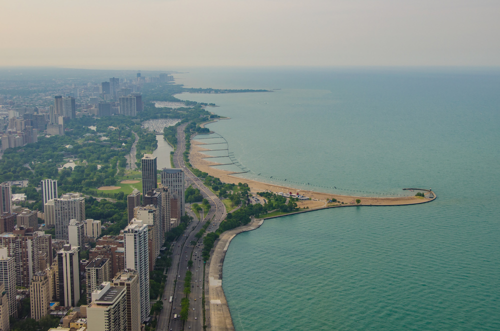 North Lakefront from the Hancock Center