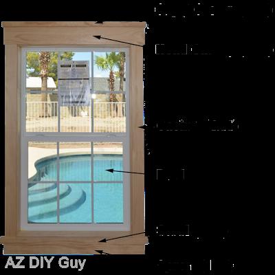 Super easy diy craftsman style window trim az diy guy for Craftsman style door casing