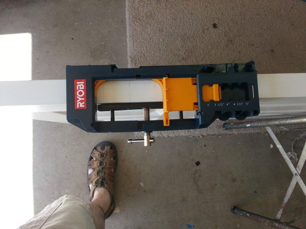 Ryobi Door Hinge Template - mounted on the door & Review: Ryobi Door Hinge Template \u2014 AZ DIY Guy Pezcame.Com