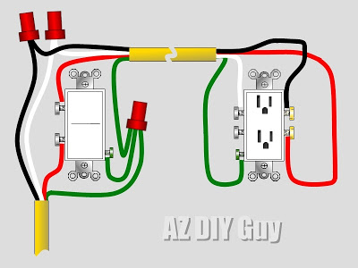 wiring a split switched receptacle az diy guy rh azdiyguy com kitchen split receptacle wiring split receptacle wiring