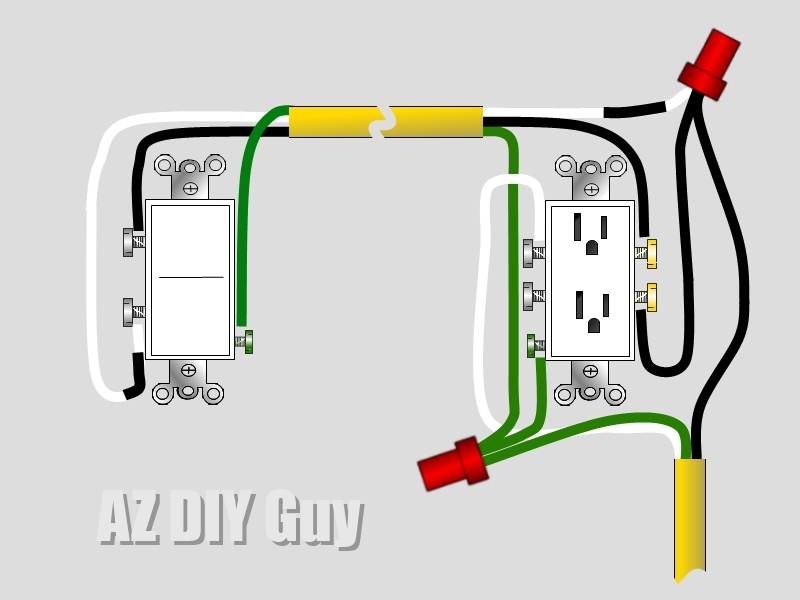 wiring a split switched receptacle az diy guy rh azdiyguy com light switch and plug wiring light switch and plug wiring diagram