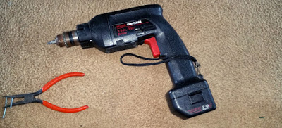 The mighty Craftsman 7.2 volt drill