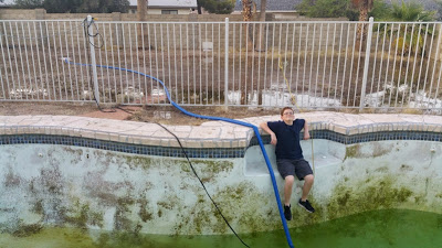 Nasty Swimming Pool with Algae