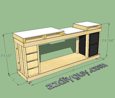 AZ AZ DIY Guy's Economical, but Beefy Miter Saw Work Bench - SketchUp