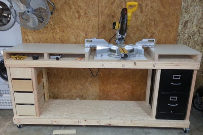 AZ DIY Guy's Economical, but Beefy Miter Saw Work Bench