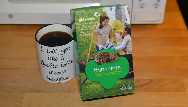 The diabolical lure of Thin Mints, for second breakfast