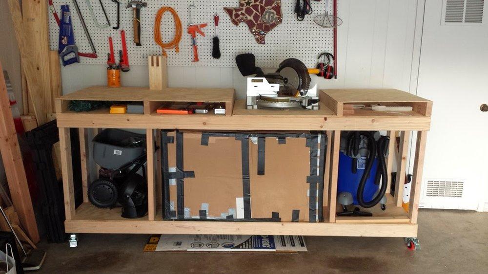 Wondrous Miter Saw Bench Revisited Plus A Readers Version Az Diy Guy Beatyapartments Chair Design Images Beatyapartmentscom