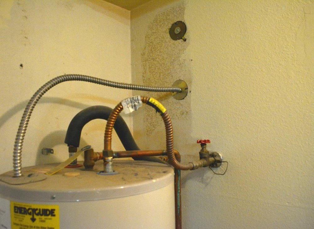 installing a water heater shut-off switch