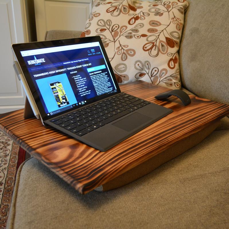 DIY Lap Desk with Burned Wood Finish — AZ DIY Guy