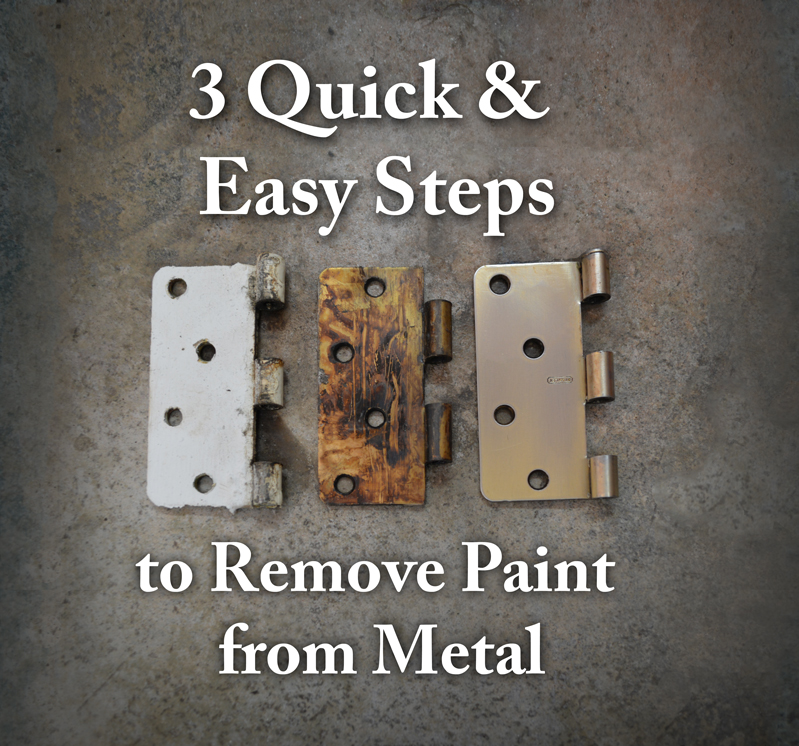 remove paint from metal hardware 3 quick and easy steps az diy guy. Black Bedroom Furniture Sets. Home Design Ideas