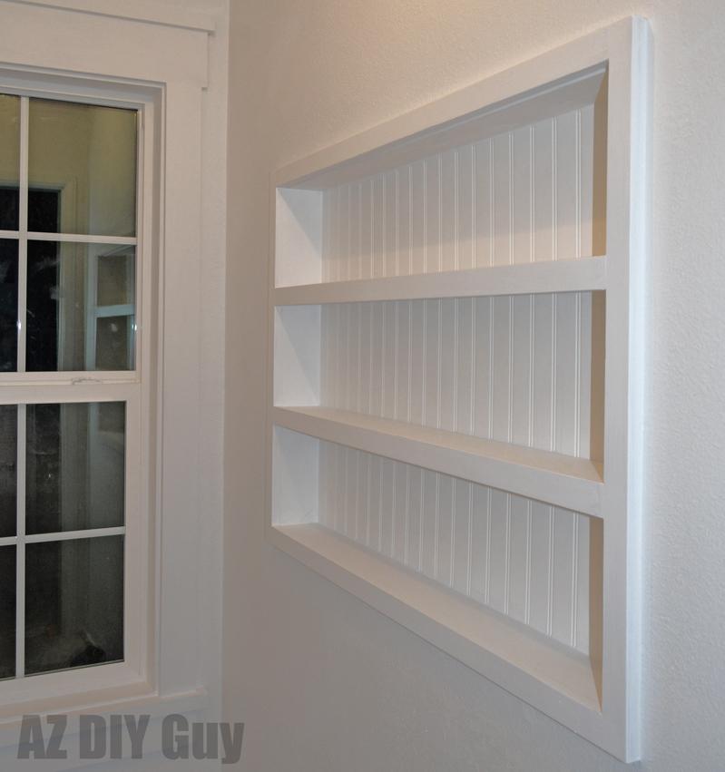 Diy Built In The Wall Shelving Reclaim Hidden Storage