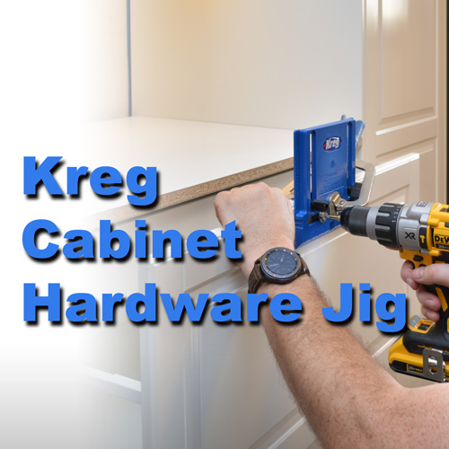 Installing Knobs and Pulls with the Kreg Cabinet Hardware Jig — AZ