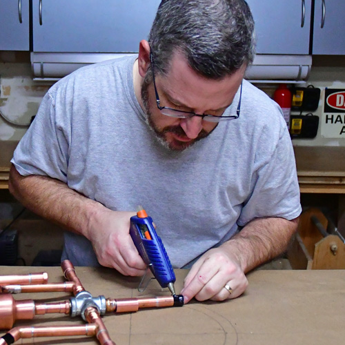 Hot Glue Copper