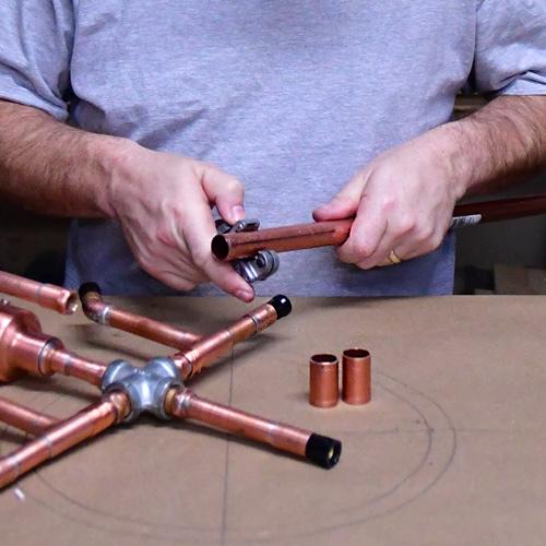"""Cutting 3/4"""" Copper"""