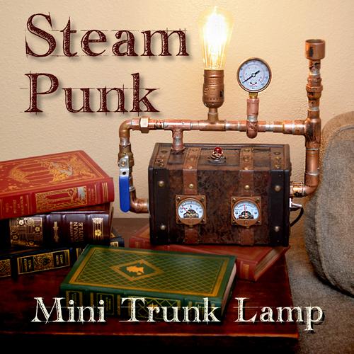 Steampunk Trunk Lamp
