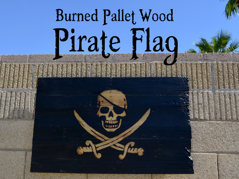 Pallet Wood Pirate Flag