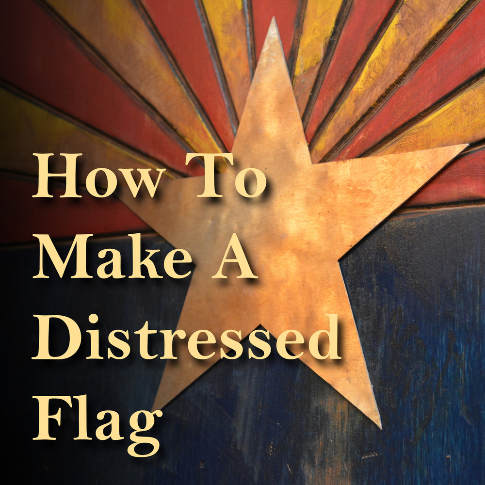 Distressed Flag with Metal