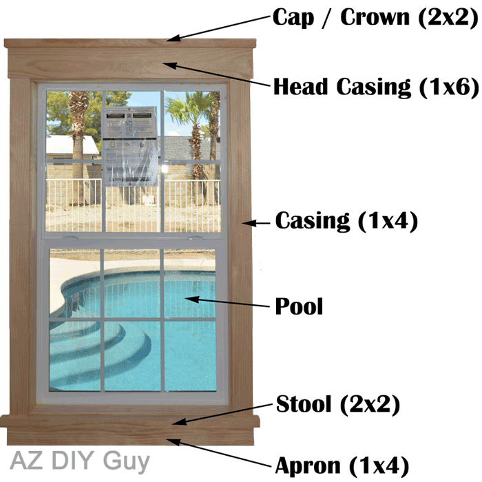 Super Easy Diy Craftsman Style Window Trim Az Diy Guy