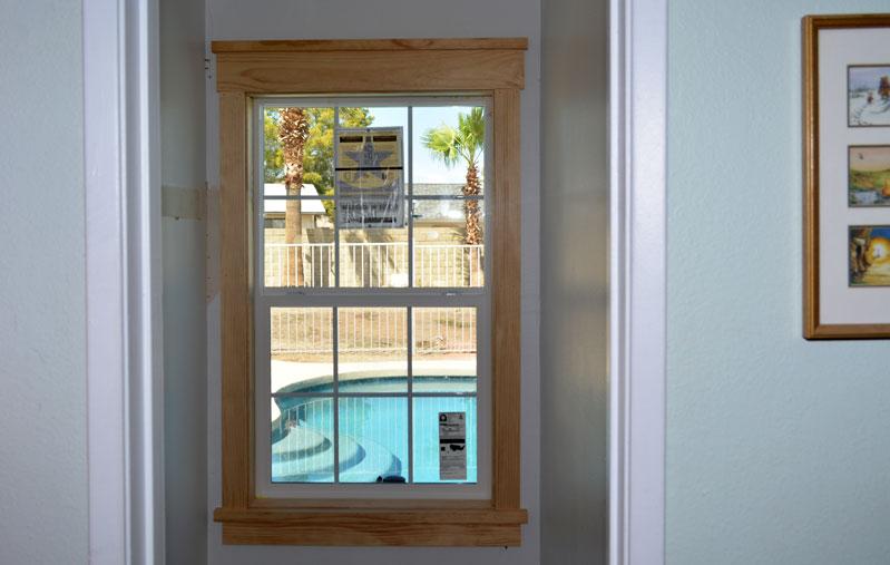 Craftsman Trim: Kids Closet Window