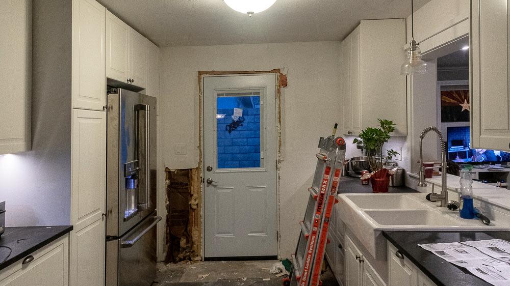 A brand-new kitchen door!