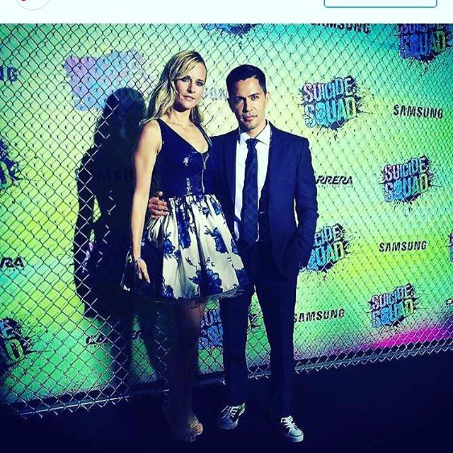 Jay Hernandez wife wearing @carnivel_newyork dress to the premiere of Suicide Squad! Shop the collection at Public Factory or check them out online at www.carnivel.bigcartel.com