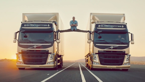 Jean Claude Van Damme Doing an Epic Split for Volvo - Click to Watch on YouTube!