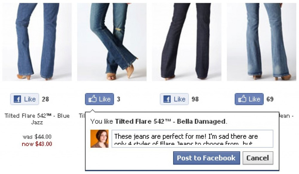 Levis.com- Facebook Like Button 2