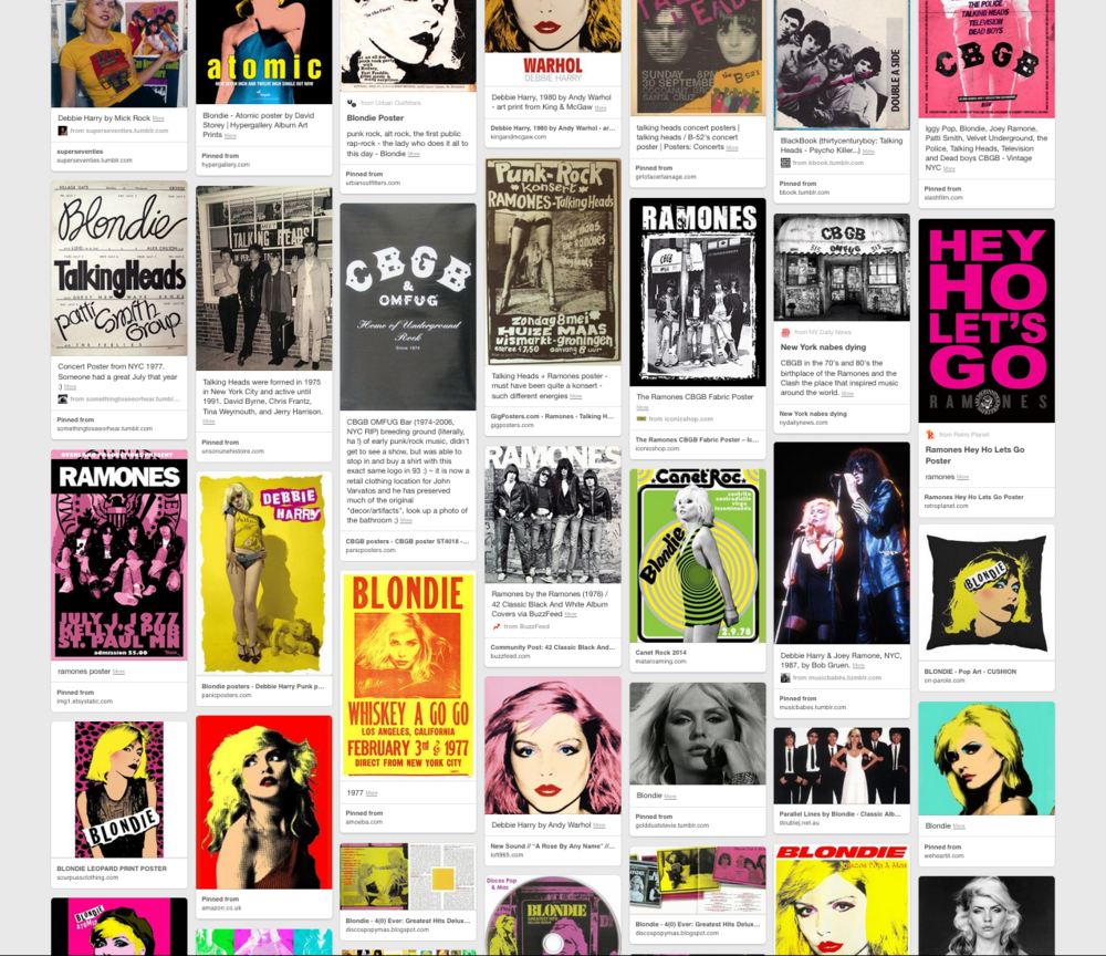 CBGB Show Pinterest Inspiration Board