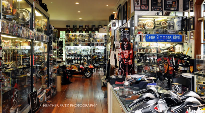 Gene Simmons' KISS merchandise collection, photo by Heather Fritz Photography