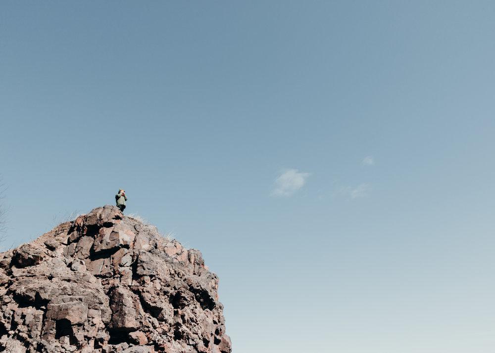 climbing in silver bay, mn.