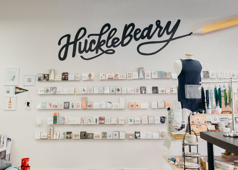 hucklebeary - cutest new gift shop and creative space in duluth, definitely worth a look!