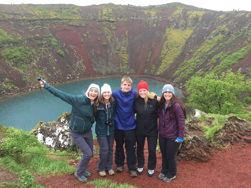 Natalie Hay, Nordhoff High School Science Department Chair and Teacher (1st from Left), along with Nordhoff High School Science Students in Iceland during the Summer of 2018. Hay and fellow Nordhoff Science Teacher Naiyma Houston, lead nearly 40 Nordhoff students to Iceland as part of a Science Exploration Trip.