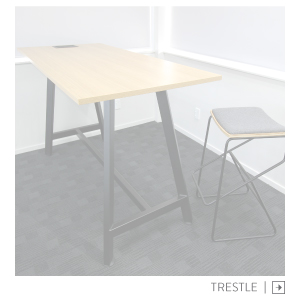 Trestle Leaner Table