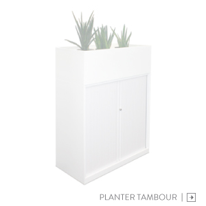 Metal Steel Planter Tambour