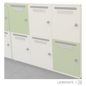 Laminate melteca lockers