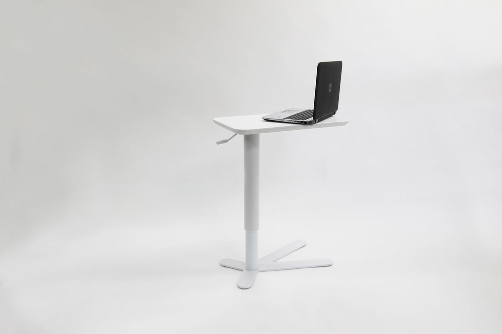 Want a complete work solution? - Pair Miss Pak with our TED laptop table for another level of comfort.