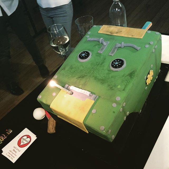 Boosted has been launched let's celebrate with a Gary cake! #boosted #garytherobot #cupboardlove #brothersbeer #tohuwines #thievery #twentyonepointsfilm